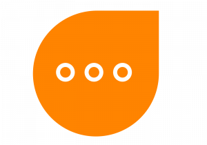 large respondology speech bubble logo