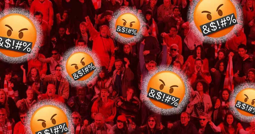 graphic of mad emojis for premier league blog header